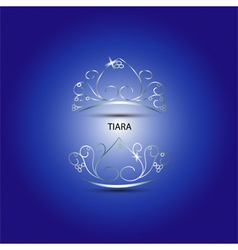Decorative tiara in blue background vector