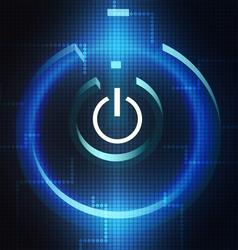 Digital Turn On Symbol vector image