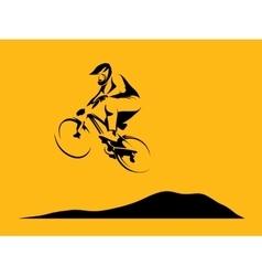 Dirt rider jump vector