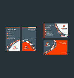 double-sided creative business card template vector image