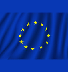 european union flag national symbol vector image