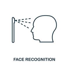 Face recognition icon monochrome style design vector