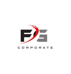 fg modern letter logo design with swoosh vector image