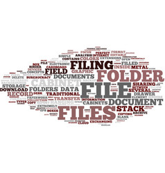 File word cloud concept vector