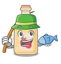 Fishing apple cider in character shape vector