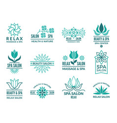 Floral logotypes for beauty and spa salon vector
