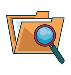 folder document with magnifying glass vector image