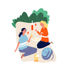 girls spend time together women in love drinking vector image