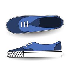 hand drawn drawing blue vector image
