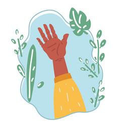 hand up raising vector image