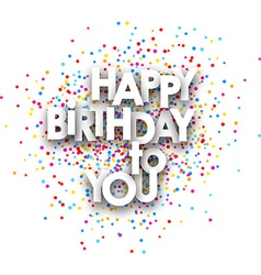 Happy birthday to you poster vector