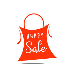 Happy sale template design vector