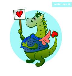 Heart dragon vector