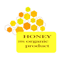 Honey icon in flat style on white background vector