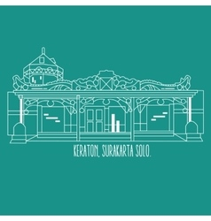 Indonesia yogyakarta surakarta historic building vector