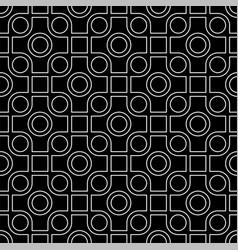 line art seamless pattern vector image
