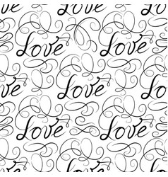 love seamless pattern doodle ornamental vector image