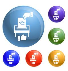 make political choice icons set vector image