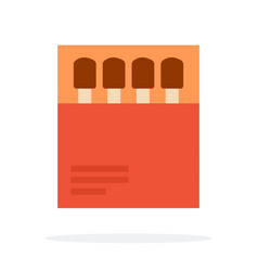 matches in paper packaging flat isolated vector image