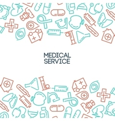 Medical service background vector image