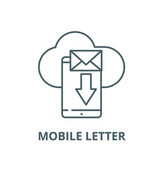 mobile letter line icon linear concept vector image