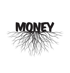 money text and idea concept with leaves vector image