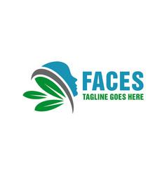 natural facial health modern logo vector image