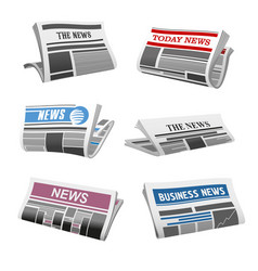 Newspaper daily news isolated icons vector