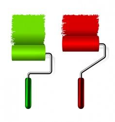 Paint roller brush vector