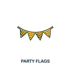 party flags icon creative 2 colors design vector image