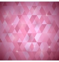 Pink geometric retro mosaic pattern vector