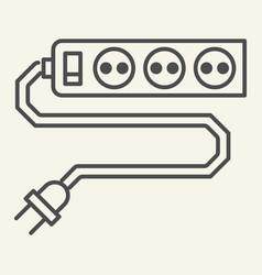 power socket thin line icon sockets vector image