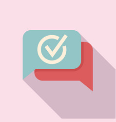 Quality chat icon flat ask question vector
