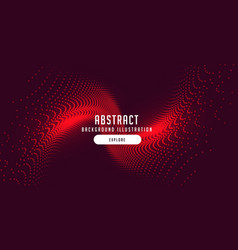 Red particles burst abstract motion background vector