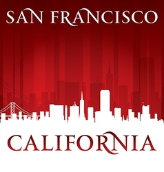 San francisco california city skyline silhouette vector