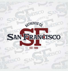 san francisco united states of america vector image