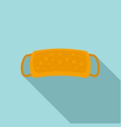 Sauna washcloth icon flat style vector
