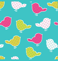 Seamless pattern with colorful birds vector