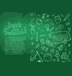 set of doodle back to school elements vector image