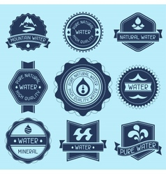set water labels badges and stickers vector image