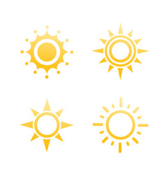 sun logo elements on white vector image