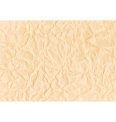 Texture crumpled horizontal sepia paper vector