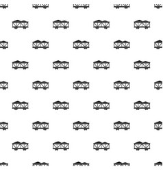 Train cargo wagon pattern vector