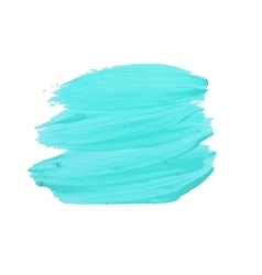 Turquoise smear paint vector