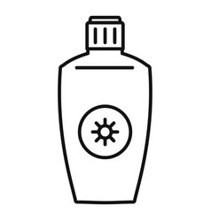 uva sunscreen bottle icon outline style vector image