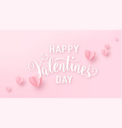 valentines day background with light pink paper vector image