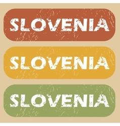 Vintage Slovenia stamp set vector