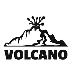 volcano logo simple style vector image