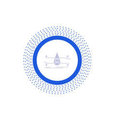 Water monitoring clean safety smart city glyph vector