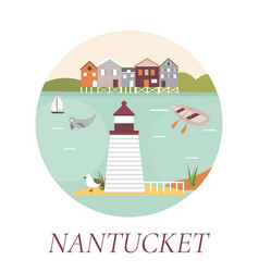 welcome to nantucket island poster vector image